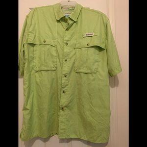 Magellan fishing shirt,green, size M
